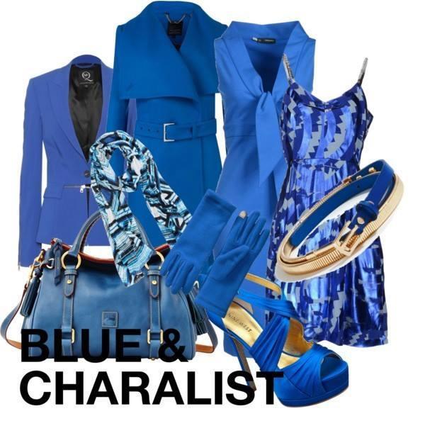 ブルー 青色  レディーススーツ