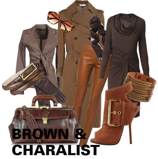 ブラウン 茶色 レディーススーツ
