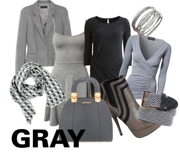 グレー 灰色  レディーススーツ