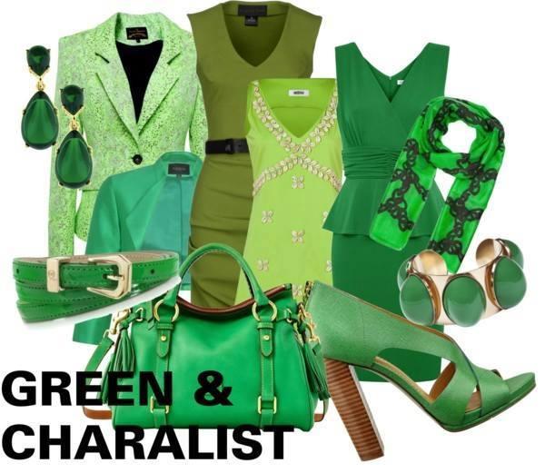 グリーン 緑色  レディーススーツ