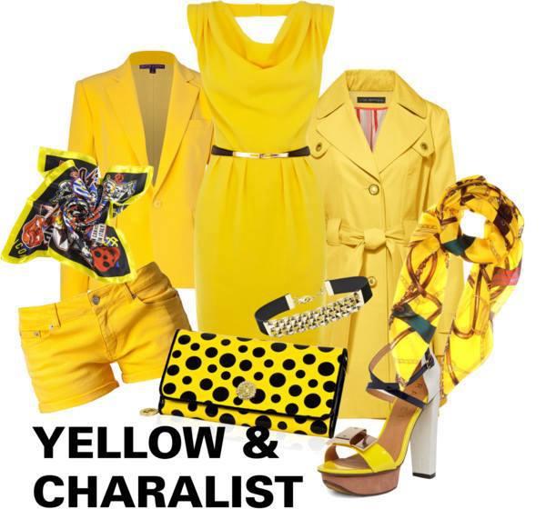 イエロー 黄色 レディーススーツ