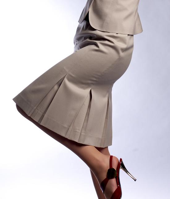 ボックスプリーツスカート<br />Box Pleat Skirt