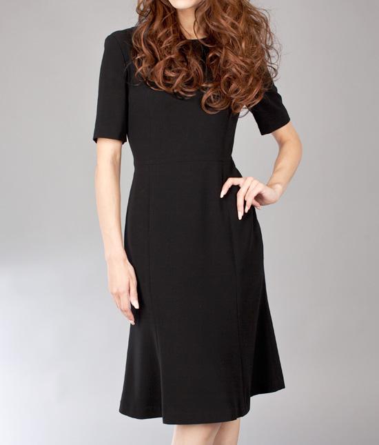 フレアワンピース<br />Black Flare Dress