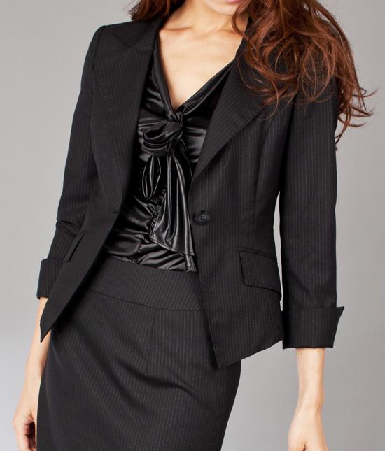 スクエアシングルジャケット<br />Single Breasted Jacket W/Square Hem