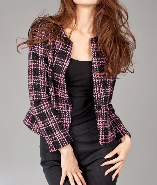 ノーカラージャケット<br />Collareless Elegant Jacket