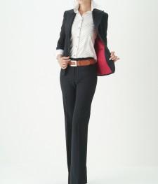 パンツスーツ マニッシュ 働く女性に人気<br />Women's Classic Pants Suit