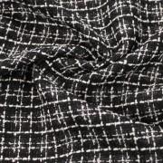 ブラック×ホワイト格子(28029-3)