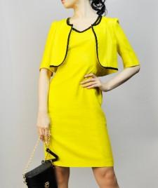 ワンピーススーツ 鮮やかなイエロー<br />Bright Yellow Dress Suit
