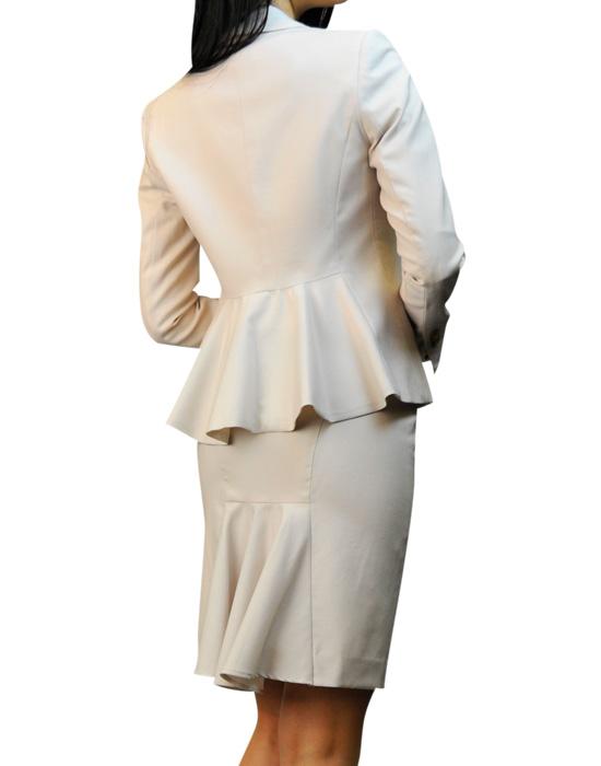 スカートスーツ キュートなフリル<br />Frill Peplum Jacket and Skirt