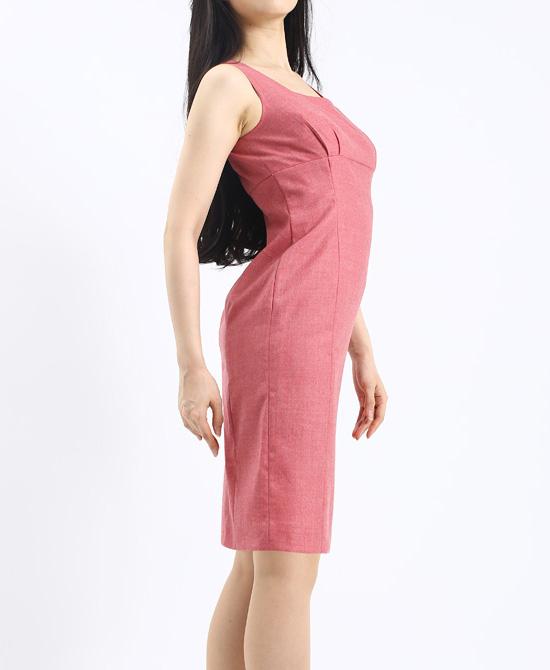 ワンピース ハイウエスト切替ノースリーブ<br />High Waist Sleeveless Dress