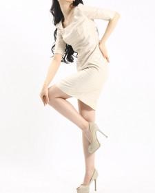 ワンピース ゴージャスなドレス仕様<br />Metallic Dot & Stripe Sheath Dress