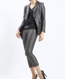 パンツスーツ セミロングジャケット<br />Semi-Long Length Jacket & Capri Pants