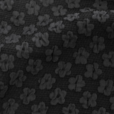 小花柄フクレジャカードブラック(KKF7605-1-12/UN1000)