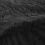 大花柄フクレジャカードブラック(KKF7605-2-12/UN1000)