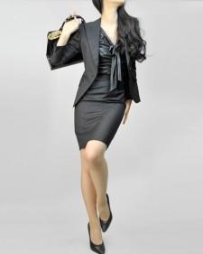 スカートスーツ ビジネススーツ 女性<br />Peaked Lapel Jacket & Pencil Skirt