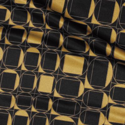 幾何学模様ブラック×ベージュ(KKP7272-76-B)