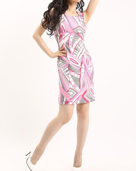 ワンピース オーダー エミリオプッチ<br />High Waist Sheath Dress in PAROLARI EMILIO PUCCI