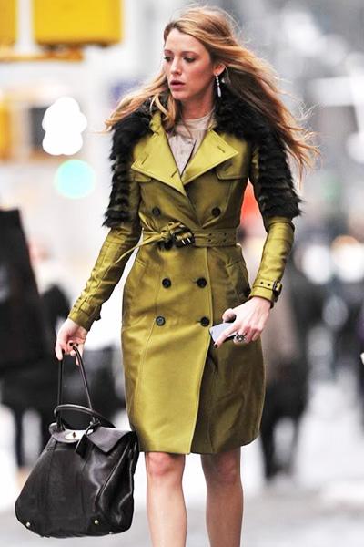 ブレイク・ライヴリー(Blake Lively) トレンチコートファッション
