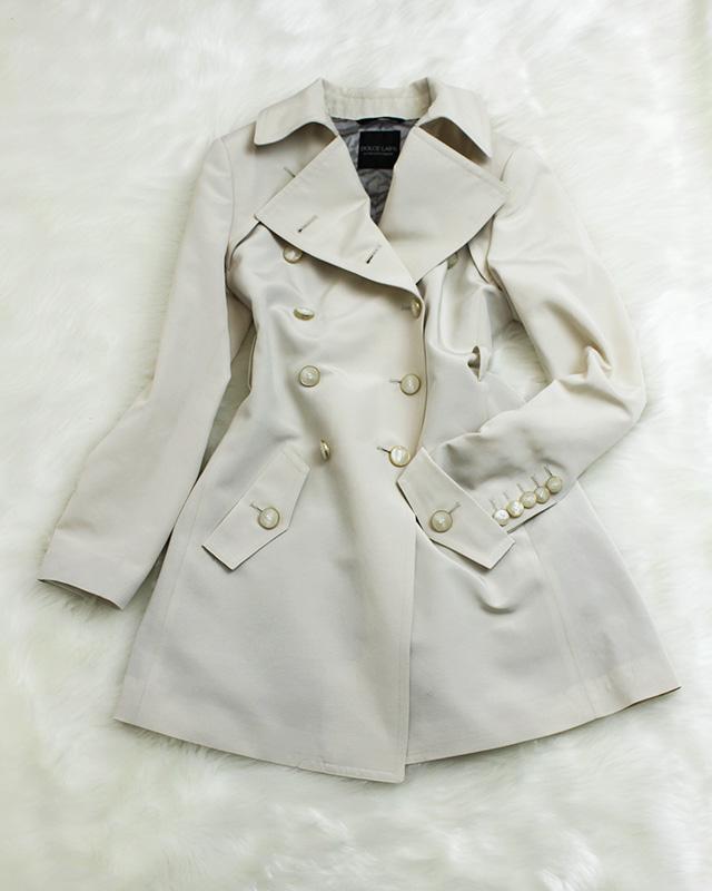 トレンチコート アイボリー<br />Ivory trench coat
