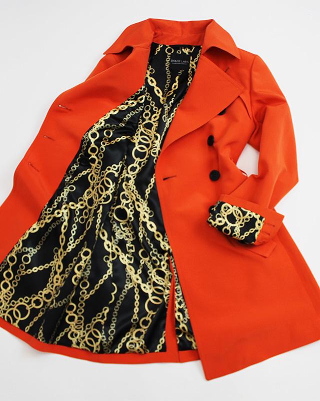 トレンチコート オレンジ<br />Tangerine trench coat
