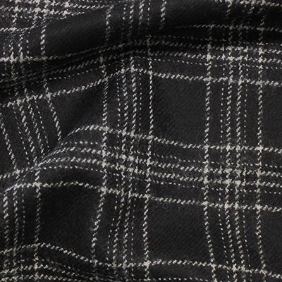 ブラック格子柄(F6832)/ Black Wool Plaid