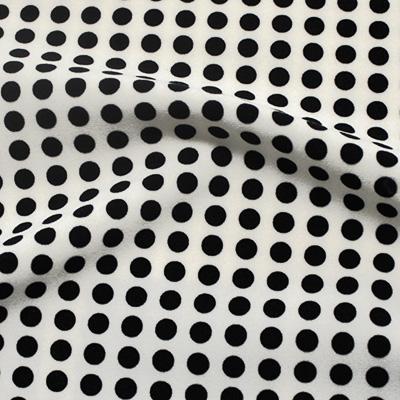 ハイテンションストレッチ ホワイト×ブラック水玉模様(KKP5200-68-B)