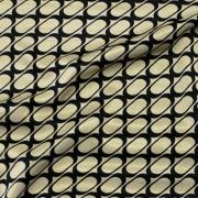 幾何柄プリント ゴールド×ブラック(KKP727-36-G) / Stretchy Gold Black Geometric Print