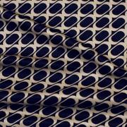 幾何柄プリント ネイビー×ベージュ(KKP727-36-H) / Stretchy Navy Beige Geometric Print