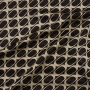 幾何柄プリント ブラウン×ベージュ(KKP727-36-K) Stretchy Brown Beige Geometric Print