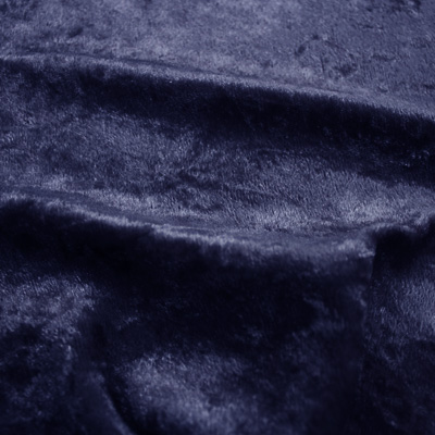 クラッシュベロア ネイビー(43788-21) / Navy Crashed Velour