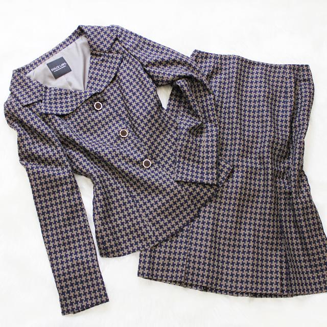 スカートスーツ シックな千鳥柄<br />Skirt suit in houndstooth pattern