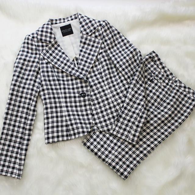 パンツスーツ かわいい-シェパード・チェック柄<br />Pants Suit in shepherd's check