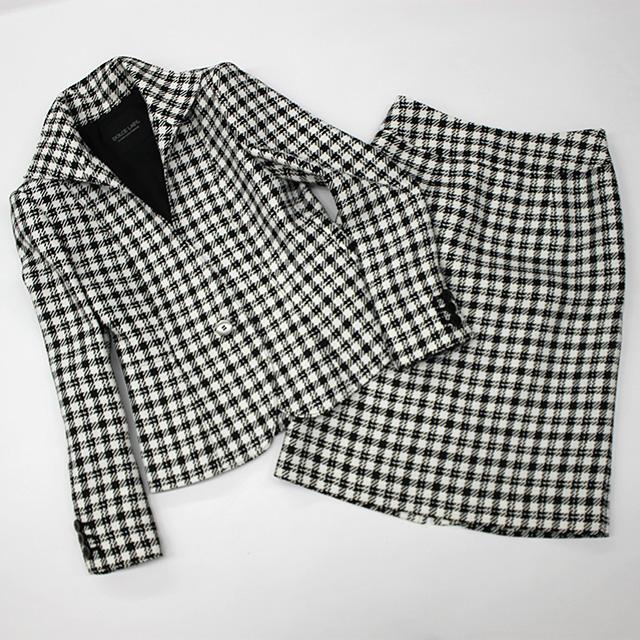スカートスーツ かわいい千鳥格子柄<br />Skirt suit in houndstooth check
