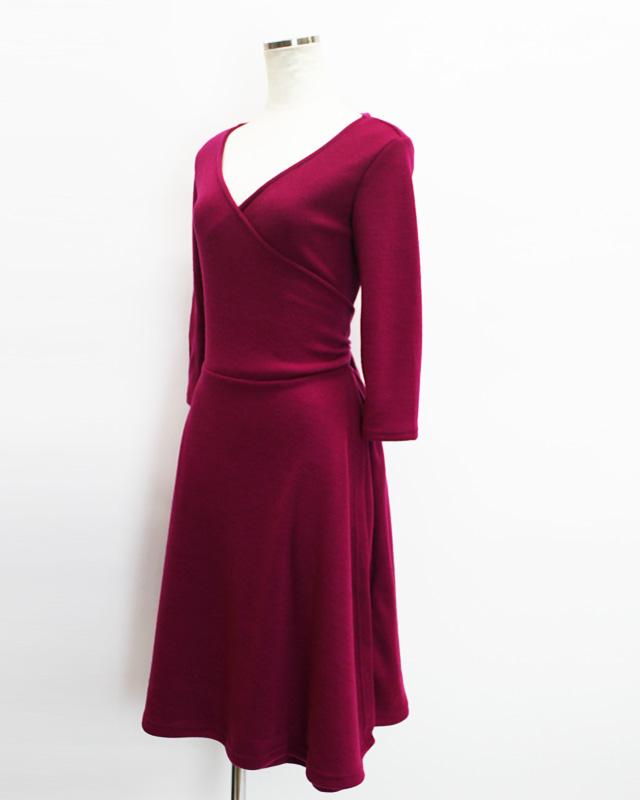 カシュクール ピンク 柔らかな肌触り<br /> Pink soft crossover dress