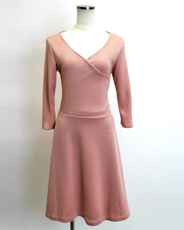 カシュクール ベビーピンク<br />Ruddy pink crossover dress