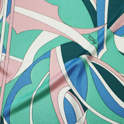 PAROLARI EMILIO PUCCI Green×Pink×LightBlue(8223-16) / Printed Stretchy