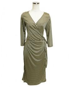 カシュクールワンピース ブライトスムース4色<br />Wrap Dress in 4 Color Ways