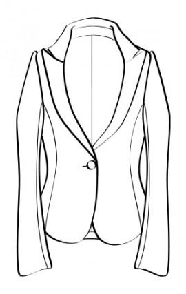 ピークドシングルジャケット(RJ-7) / Single-Breasted with Peaked Lapel