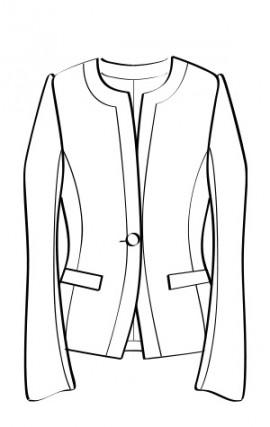 ノーカラージャケット(RJ-8) / Collarless Jacket