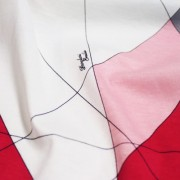 PAROLARI EMILIO PUCCI ストレッチ ホワイト×ピンク×レッド プッチ柄(4417-36) / White & Pink Stretch Cotton