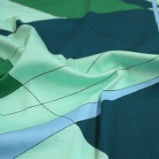 PAROLARI EMILIO PUCCI ストレッチ グリーン×ライトブルー他 プッチ柄(4417-38) / Green & Blue Stretch Cotton