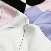 PAROLARI EMILIO PUCCI ストレッチ ホワイト×パープル×ブラック他 プッチ柄(4417-40) / White & Purple Stretch Cotton