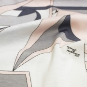 PAROLARI EMILIO PUCCI ストレッチ ピンク×ホワイト×グレー プッチ柄(4417-42) / White & Pink Stretch Cotton