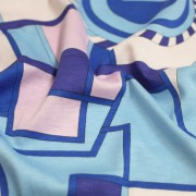 PAROLARI EMILIO PUCCI ストレッチ ピンク×ブルー×パープル プッチ柄(4417-43) / Blue & Pink Stretch Cotton