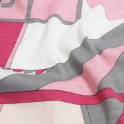 PAROLARI EMILIO PUCCI ストレッチ ピンク×ホワイト×グレー プッチ柄(4417-44) / Pink & White Stretch Cotton