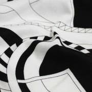 PAROLARI EMILIO PUCCI ストレッチ ホワイト×ブラック プッチ柄(4417-45) / White & Black Stretch Cotton