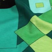 PAROLARI EMILIO PUCCI ストレッチ グリーン×ブラック×ライトブルー プッチ柄(4417-46) / Green & Blue Stretch Cotton