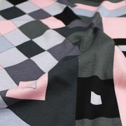 PAROLARI EMILIO PUCCI ストレッチ ピンク×グレー他 プッチ柄(4417-47) / Gray & Pink Stretch Cotton