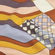 PAROLARI EMILIO PUCCI ストレッチ ブラウン×ピンク×オレンジ他 プッチ柄(4417-49) / Brown & Orange Stretch Cotton