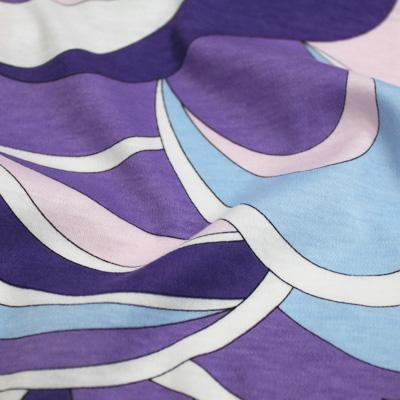 PAROLARI EMILIO PUCCI ストレッチ パープル×ライトブルー×ホワイト他 プッチ柄(4417-53) / Parple & Blue Stretch Cotton